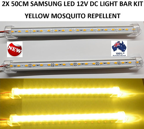 2X 50CM MOSQUITO REPELLENT LED LIGHT BAR CAMPING