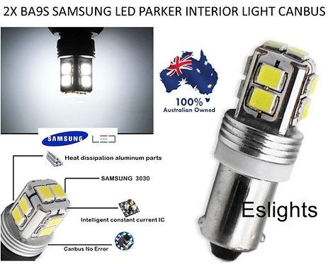 2X BA9S SAMSUNG LED BULB PARK INTERIOR LIGHT