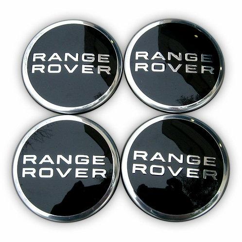 4 X 63 MM LAND ROVER RANGE ROVER ALLOY WHEEL CENTRE WHEEL BADGE HUB CAPS