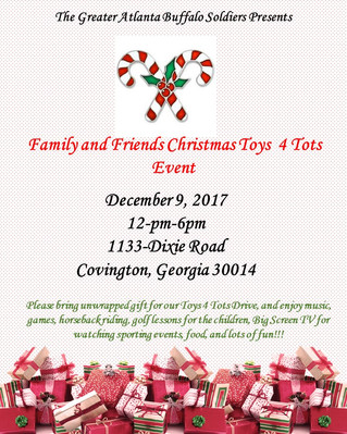 Join Us for Family and Friends Christmas Toys 4 Tots Event! December 9th, 2017 @ 12 pm-6pm