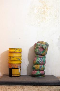 Bucket and mattress, 2014, 33x50 cm