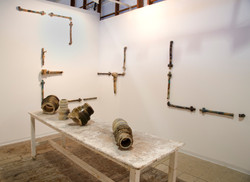 A view of  an installation,Solo exhibiti