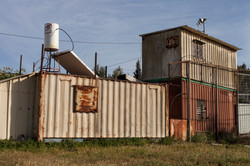 A football container, 2014, 66x100 cm',