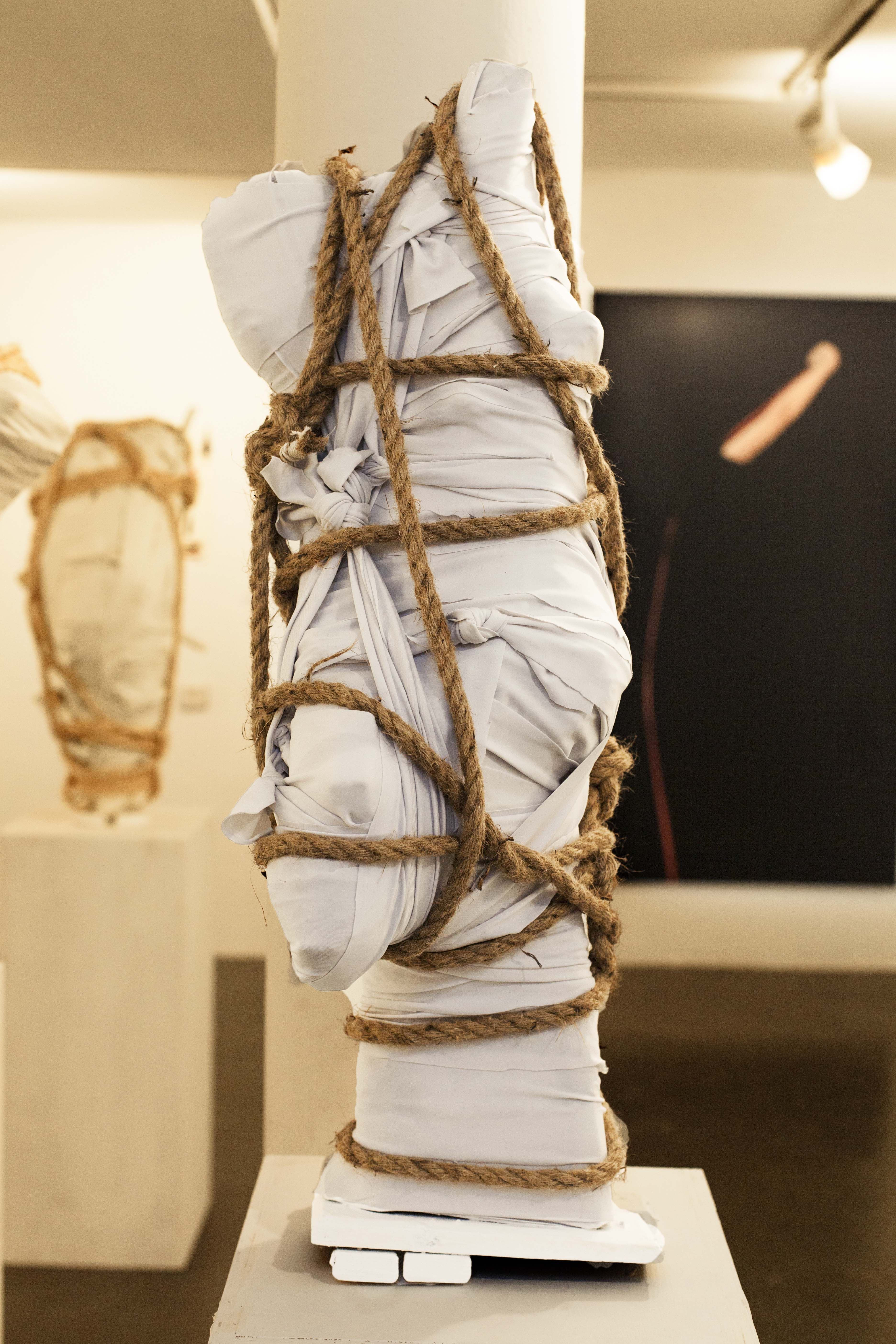 'wrapped' number 2, 2020, 83x40x27  cm',