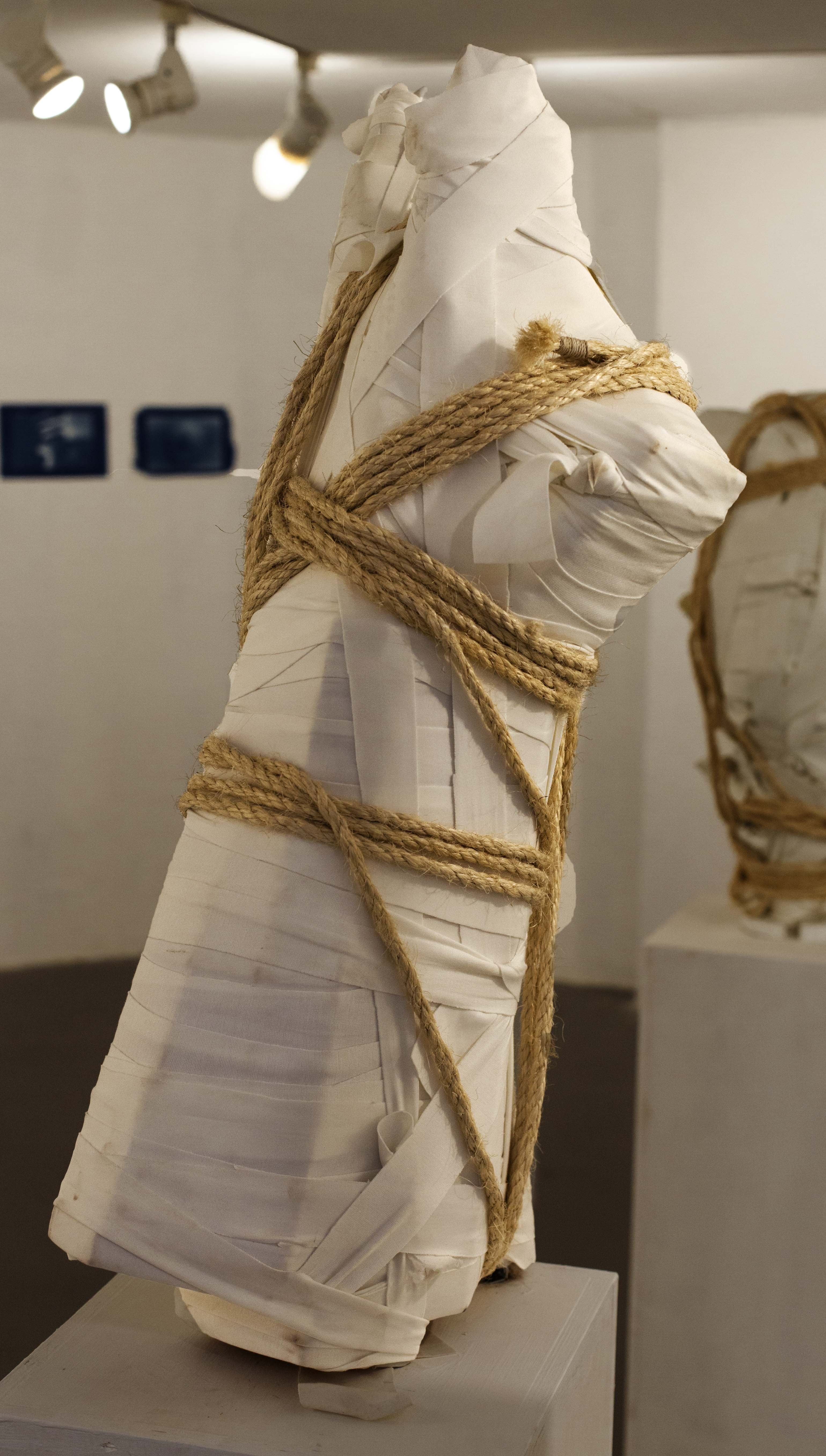 'wrapped' number 2, 2020 87x40x40 cm', f