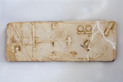 Bones and Noses,2015,32x3x86, plaster mo