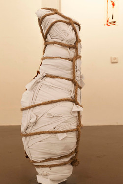 'wrapped' number 3, 2020 105x37x20 cm',