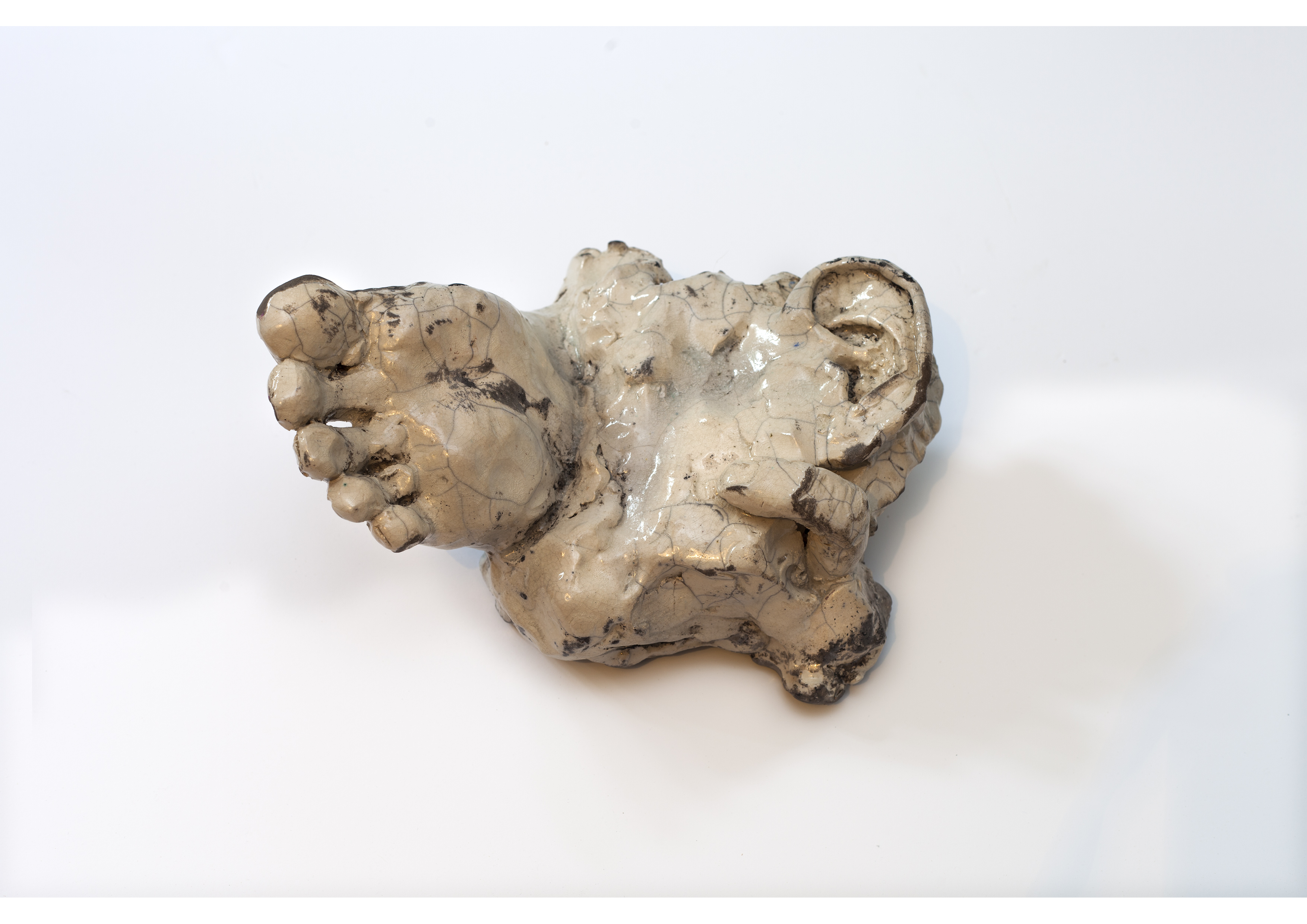 A Foot and ear, 2013, 22x17x17 cm, clay
