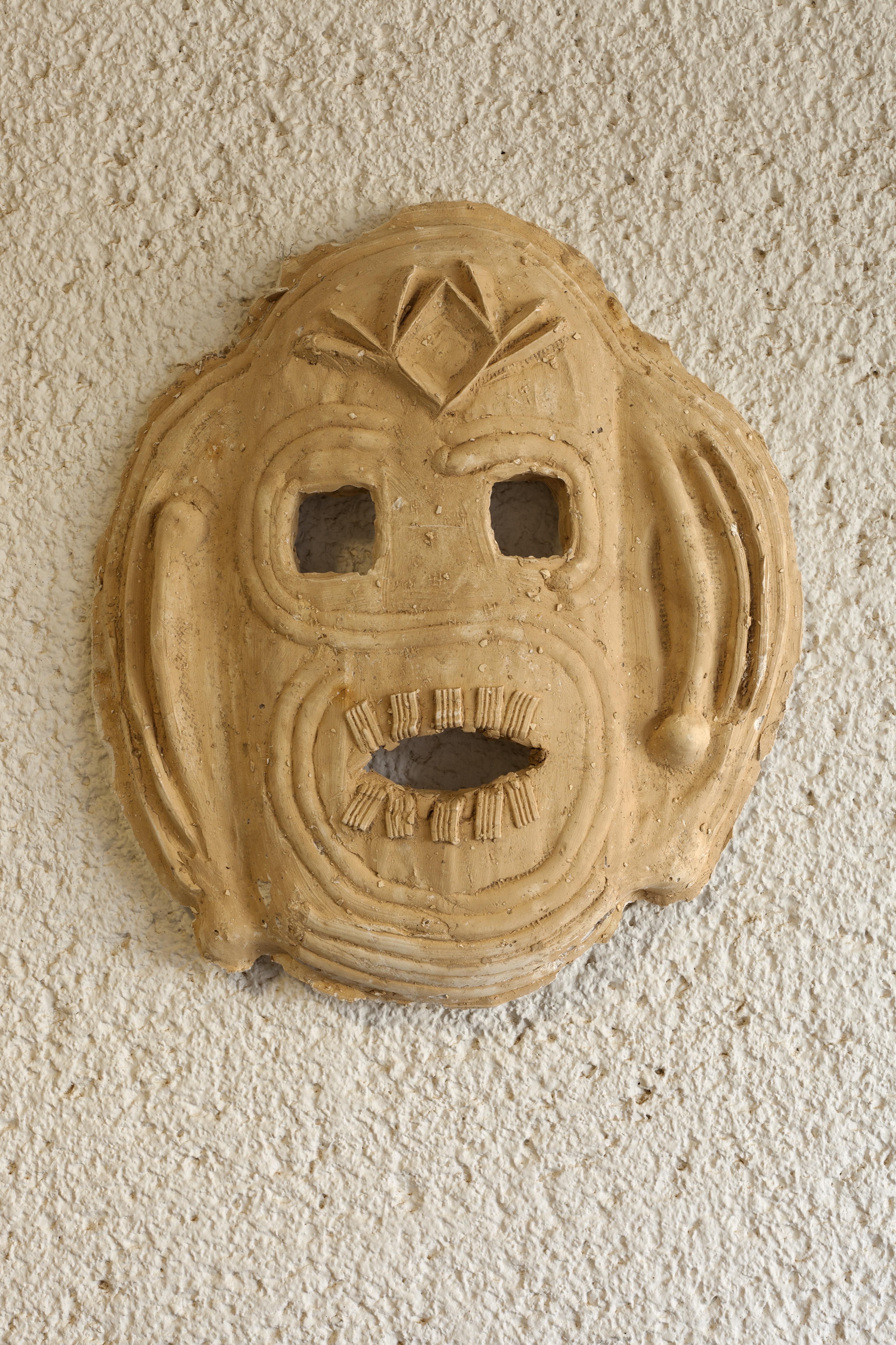 Mask  number 3, 2016, 63x7x43 cm', plast