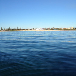 The view from Rowey's boat