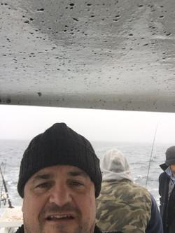 Rowey's selfie on the boat