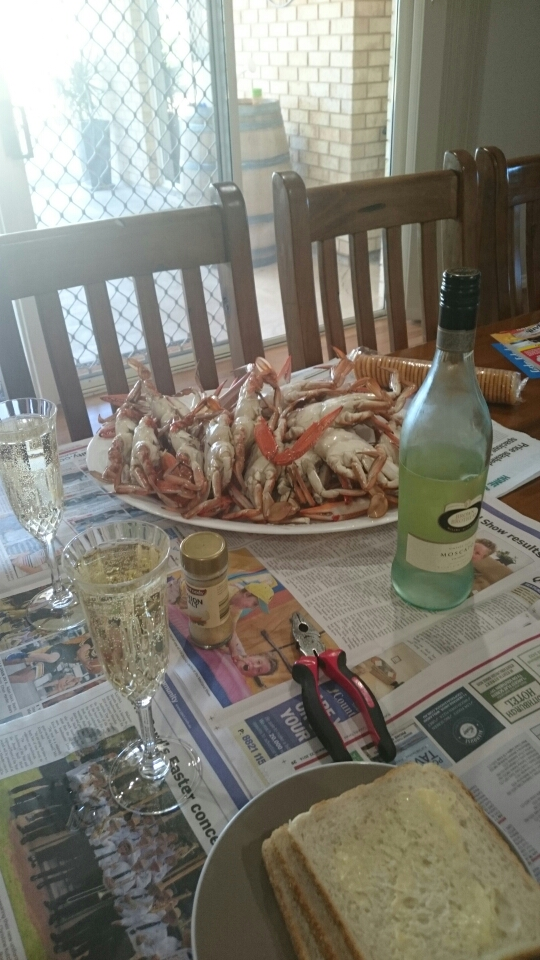 A feast of crabs
