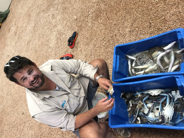 Rowey's haul after a day on the boat
