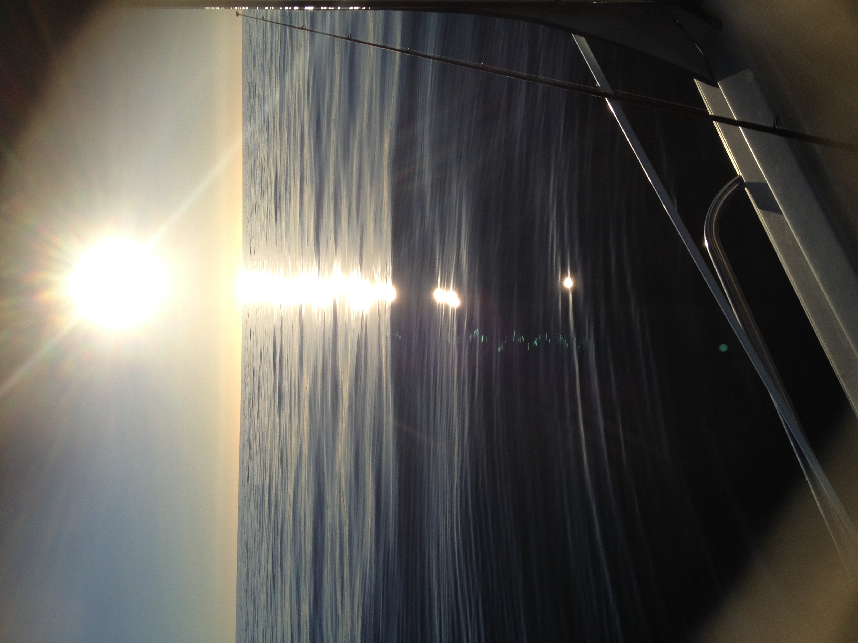 The sunset from Rowey's boat