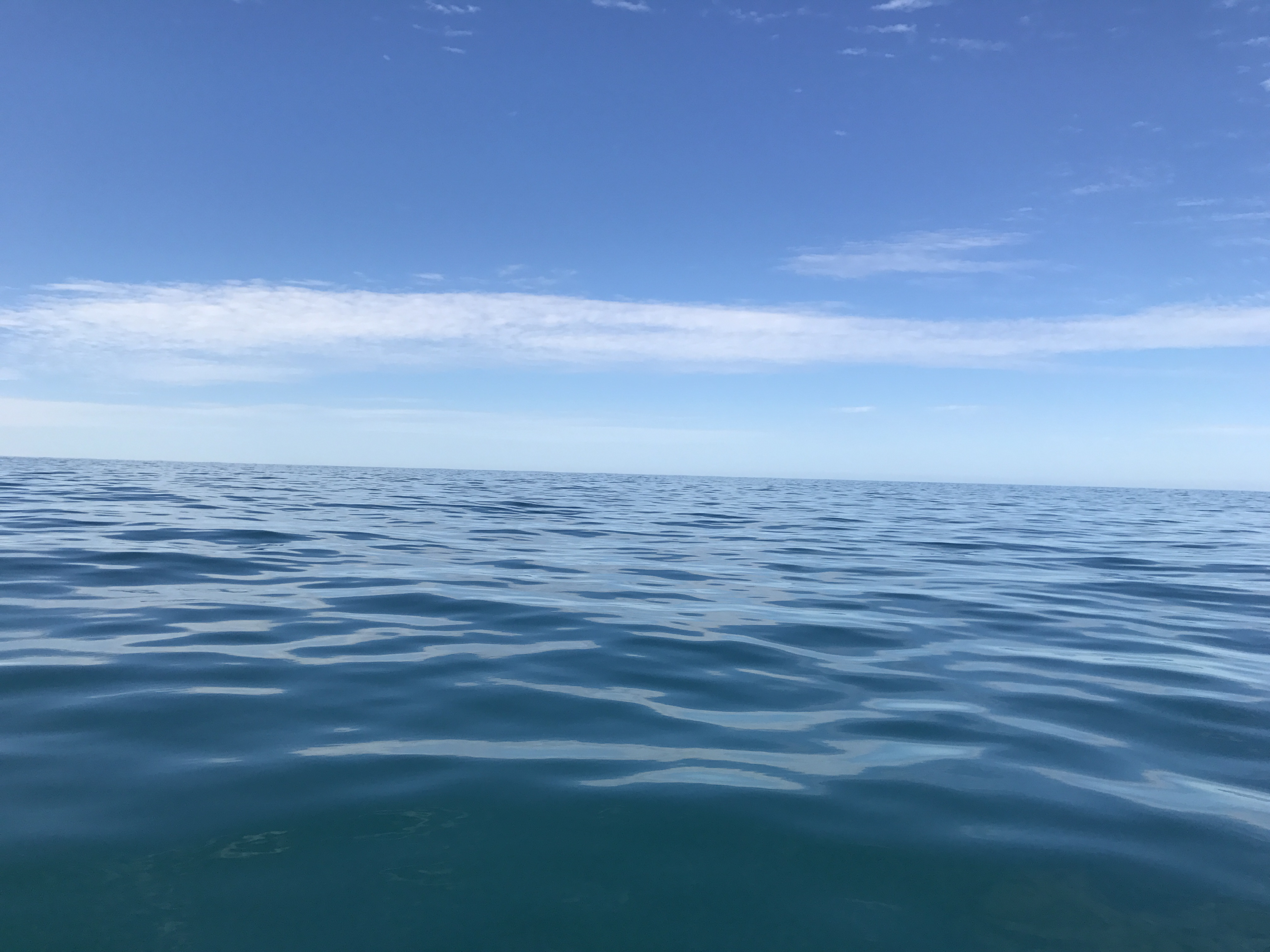 The view from the boat over Easter