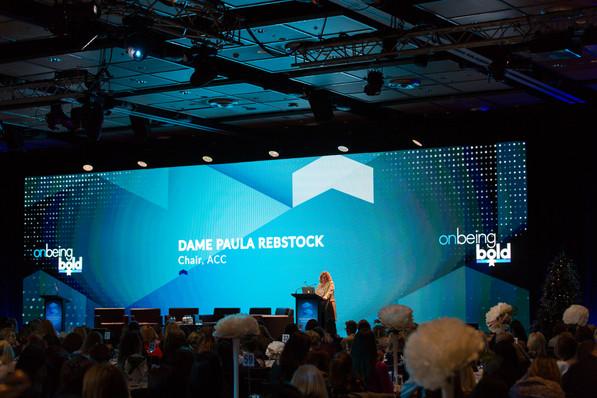 Dame Paula Rebstock.  Chair ACC
