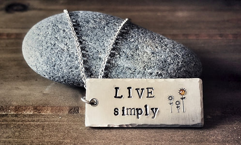 Live Simply Necklace