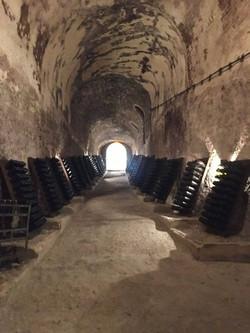 Caves souterraines de la maison de Champagne Philipponnat en 2020 - Lieu de vieillissement et d'entr