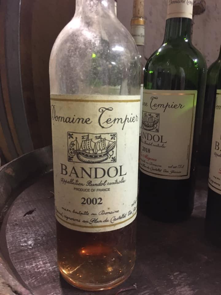Bandol Rosé 2002 du Domaine Tempier au Plan du Castellet sur l'appellation Bandol - Marc POTTIER - C