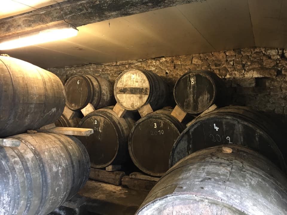 Cave de vieillissement de Calvados Domfrontais - Pacory Ferme des Grimaux - Mantilly - Marc POTTIER