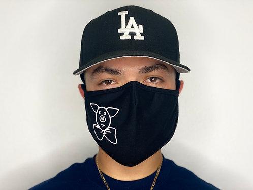 Pig Logo Face Mask