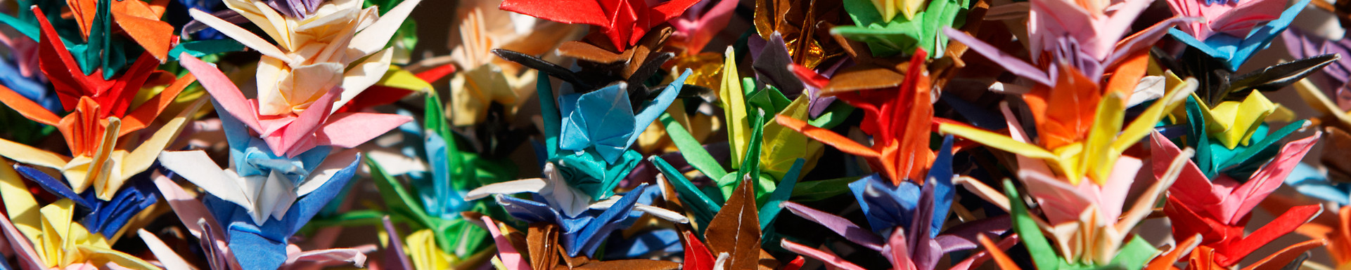 Paper Cranes at Orizuru Tower