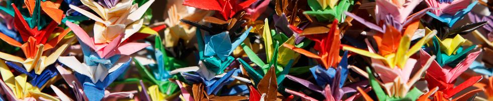 Paper Cranes at Orizuru Tower