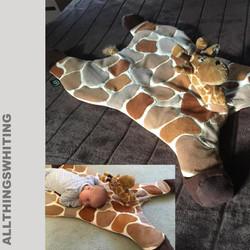 Giraffe baby floor blanket