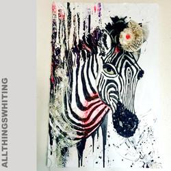 36x24inch Zebra at Melbourne cup