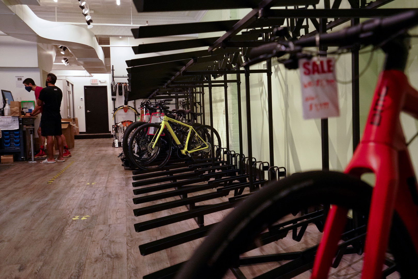 Empty Bike Racks