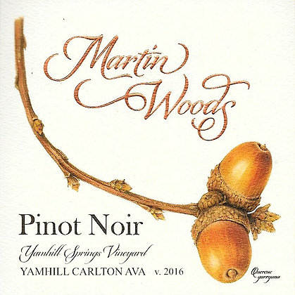 2016 Pinot noir ~ Yamhill Springs Vineyard