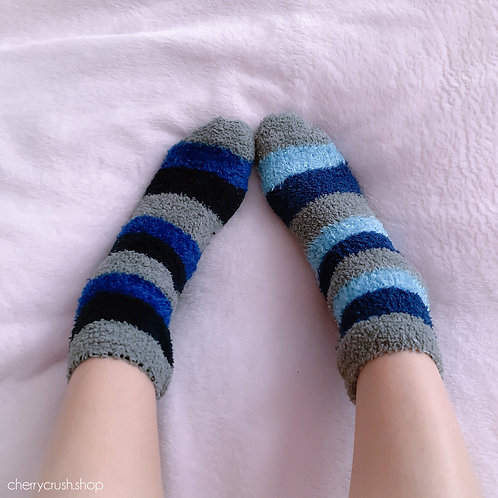 blue fleece socks