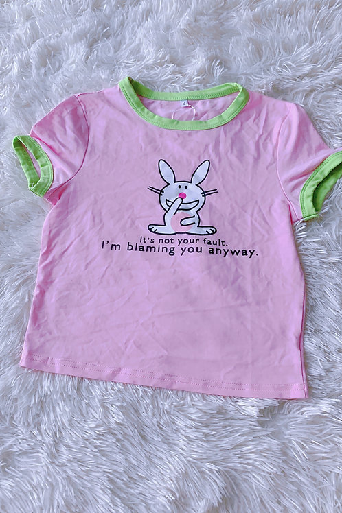 pink bunny top