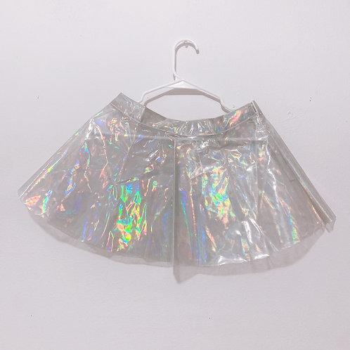 plastic shiny skirt