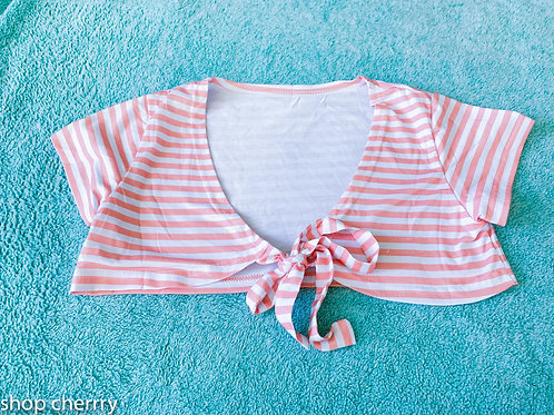 pink stripe top