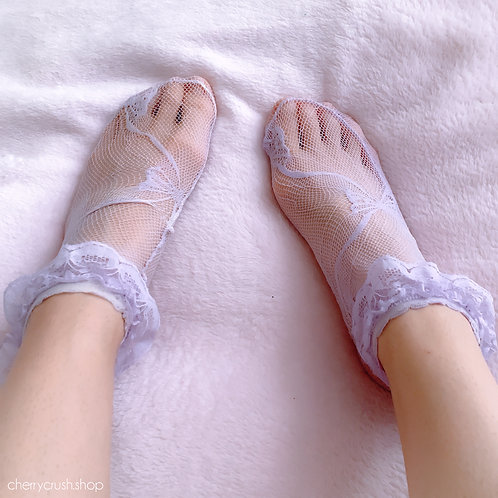 purple lace socks