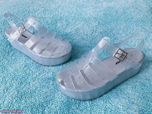 gel sparkly sandals