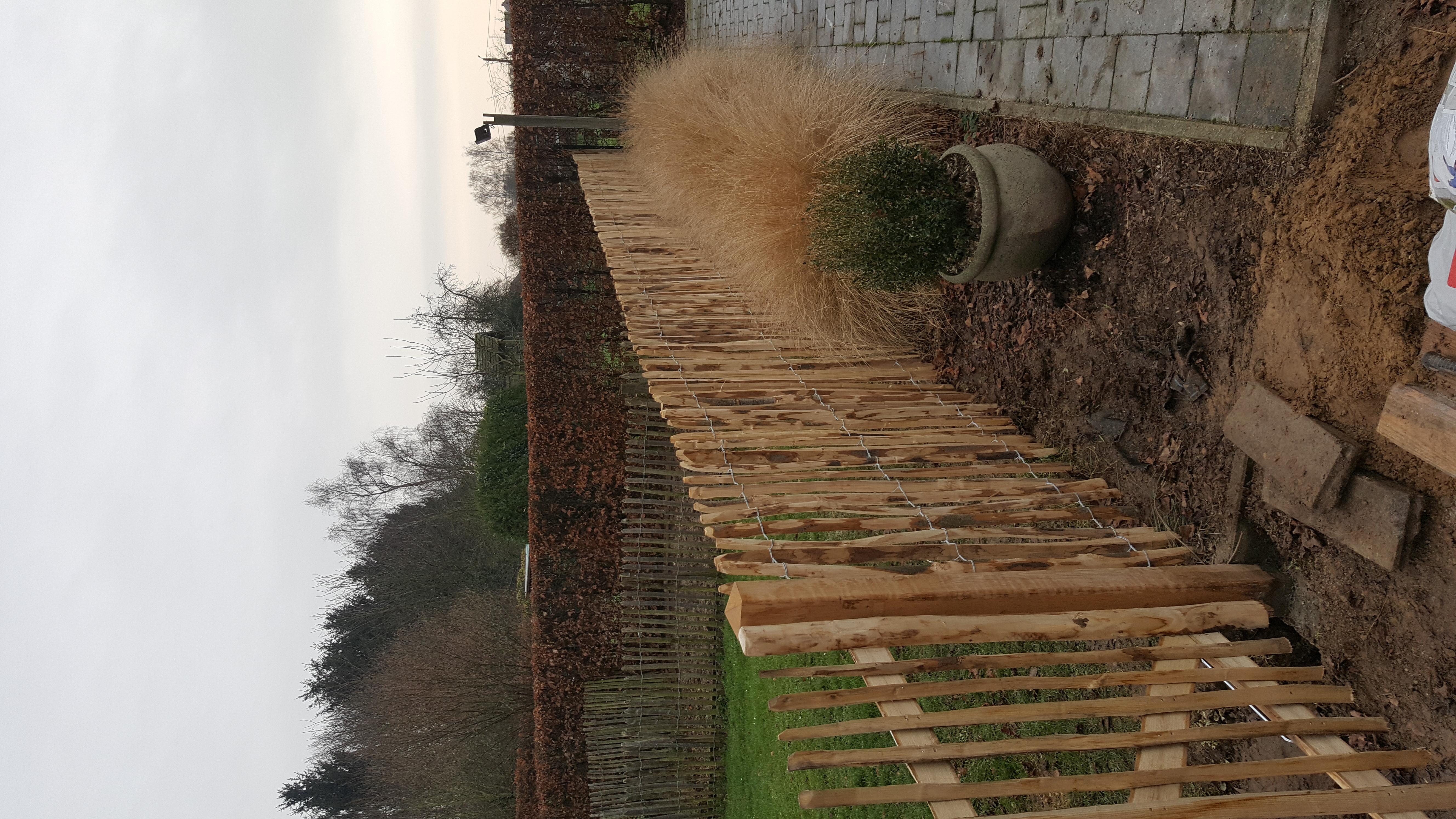 Kastanjehouten omheining + poort