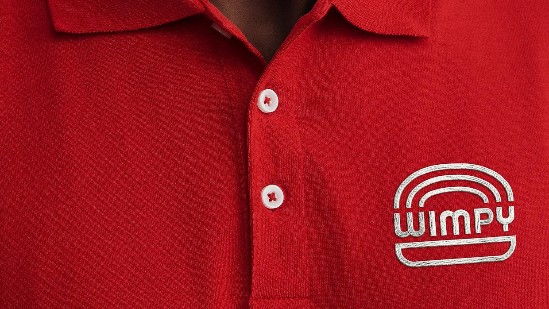 Wimpy Restaurant Uniform Embroidery