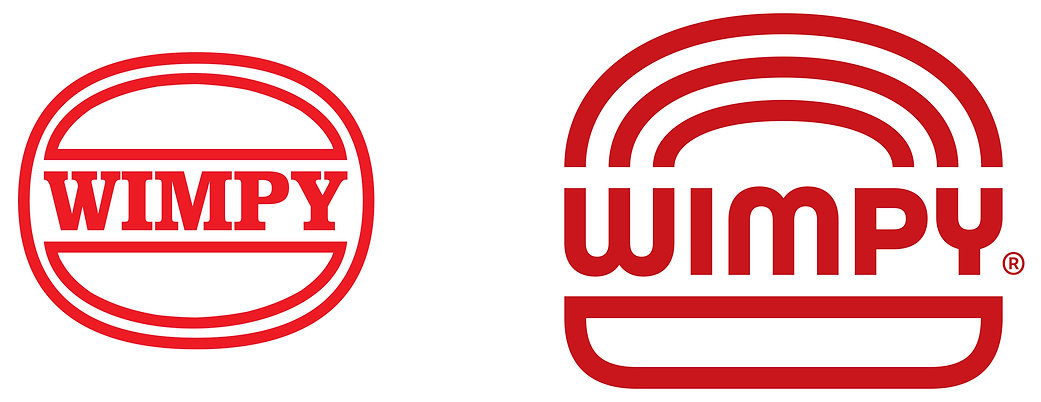 Wimpy logo before and after