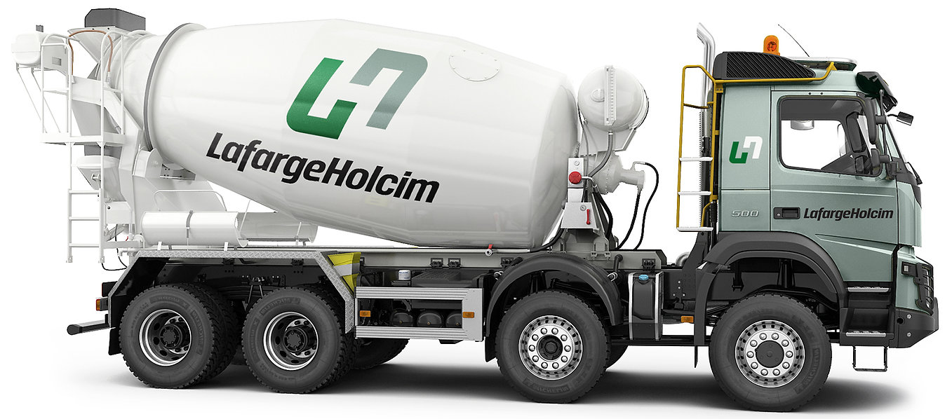 LafargeHolcim Truck Lateral View Rigth.j