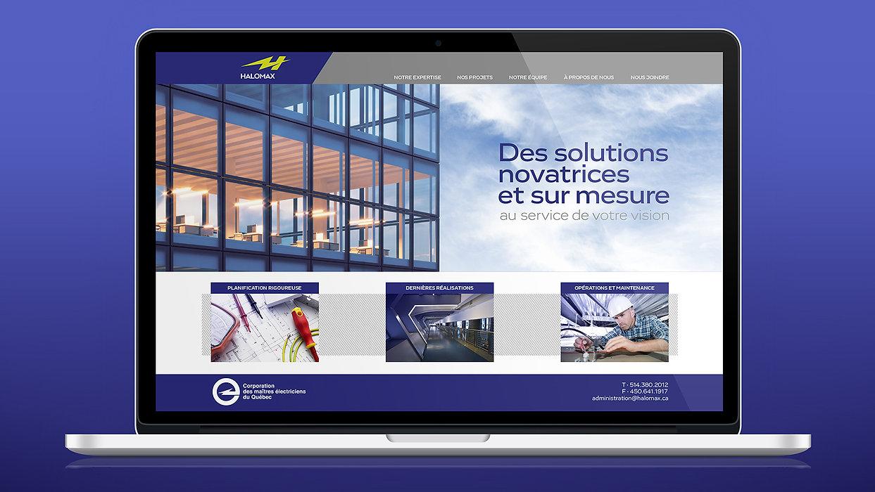Halomax Website Roberge Branding Design.