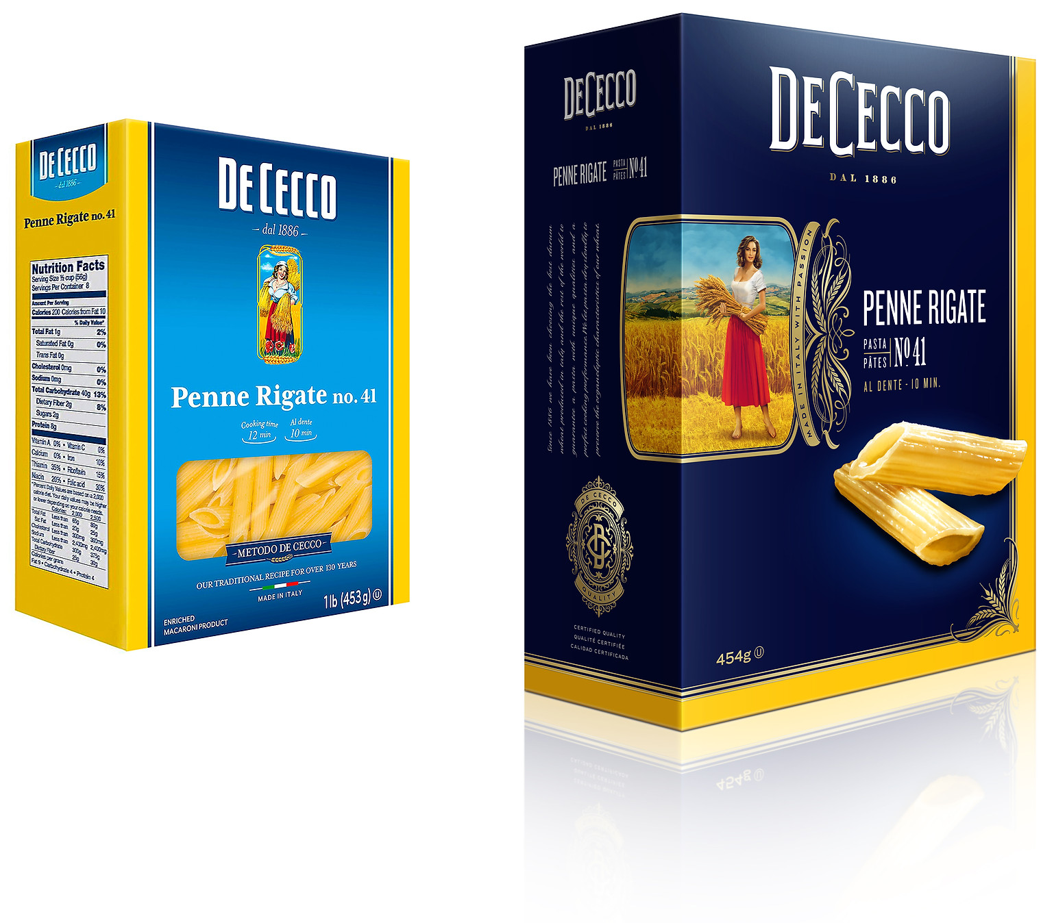 ∆DeCecco_Penne_Rigate_before_&_after