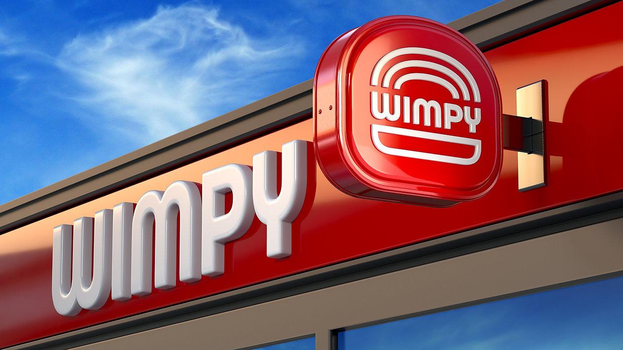 Wimpy Restaurant Exterior Signage