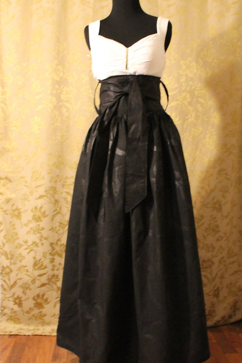 Wrapped in a bow - Long Black Elegant Skirt