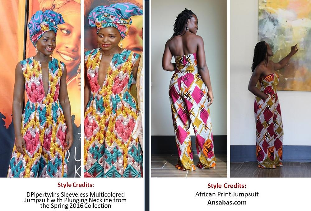 African Fashion. Queen of Katwe. Lupita Nyong'o
