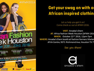 Ansaba's Etem at African Fashion Week Houston!