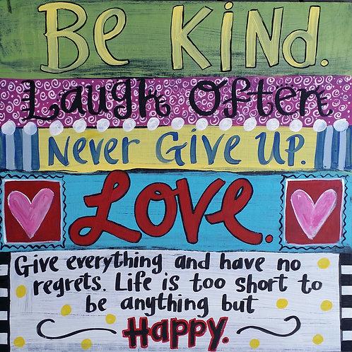 """Be Kind..."" print or notecard"