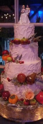 Fall Wedding Cake with fruit