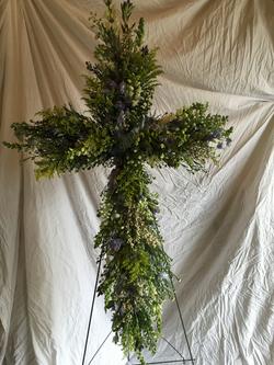 Cross in greens